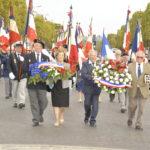 Les gerbes sur les Champs Elysées