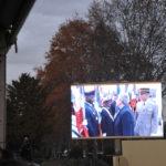 La cérémonie retransmise sur écran géant