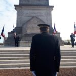 Monsieur le sous-préfet de Lens devant la Tour Lanterne