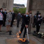 Le Président Hubert Chazeau ravive la Flamme